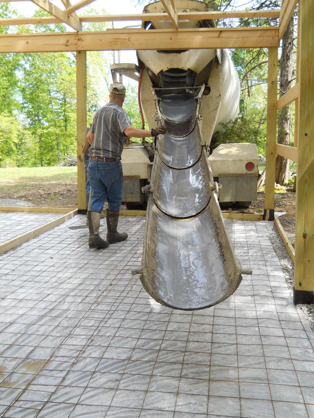 Concrete Pour Starting